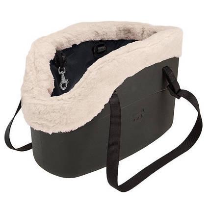 Мягкая сумка-переноска Ferplast With-Me Bag Winter Black для мелких собак до 8 кг, чёрная, 43.5×21.5×27 см, фото 2