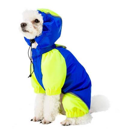 Плащ Ferplast Sporting Blue TG 50 для собак, синий, 50 см, фото 2
