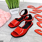 Женские красные босоножки, натуральная лакированная кожа (в наличии и под заказ 3-14 дней), фото 5
