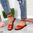 Женские красные босоножки, натуральная лакированная кожа (в наличии и под заказ 3-14 дней), фото 2
