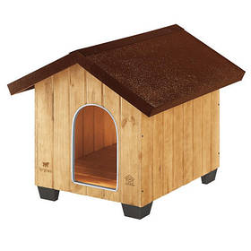 Дерев'яна будка Ferplast Domus Medium для собак, 73x85x67,5 см