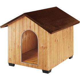 Деревянная будка Ferplast Domus Maxi для собак, 111,5x132x103,5 см