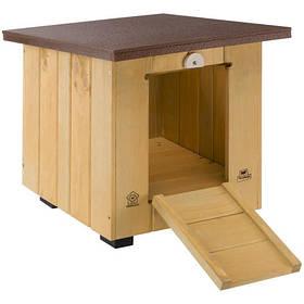 Деревянная будка Ferplast Baita 40 небольшая для мелких собак и кроликов, 42x50x43 см