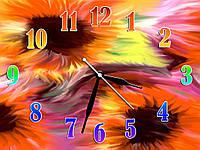Необычные часы настенные на кухню Смятение 30х40 см