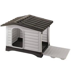 Пластикова будка Ferplast Dogvilla 11 відкривається з бічною панеллю, 111x84x79 см