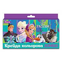 Крейда кольорова Jumbo 9 шт Frozen, 1Вересня