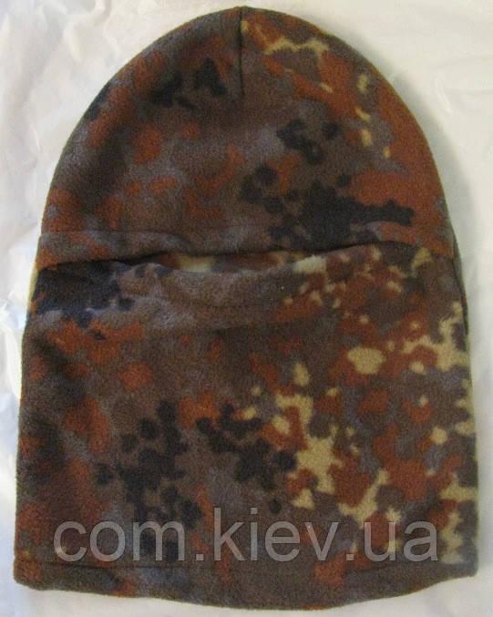 Флисовая шапка-маска (балаклава) камуфлированная