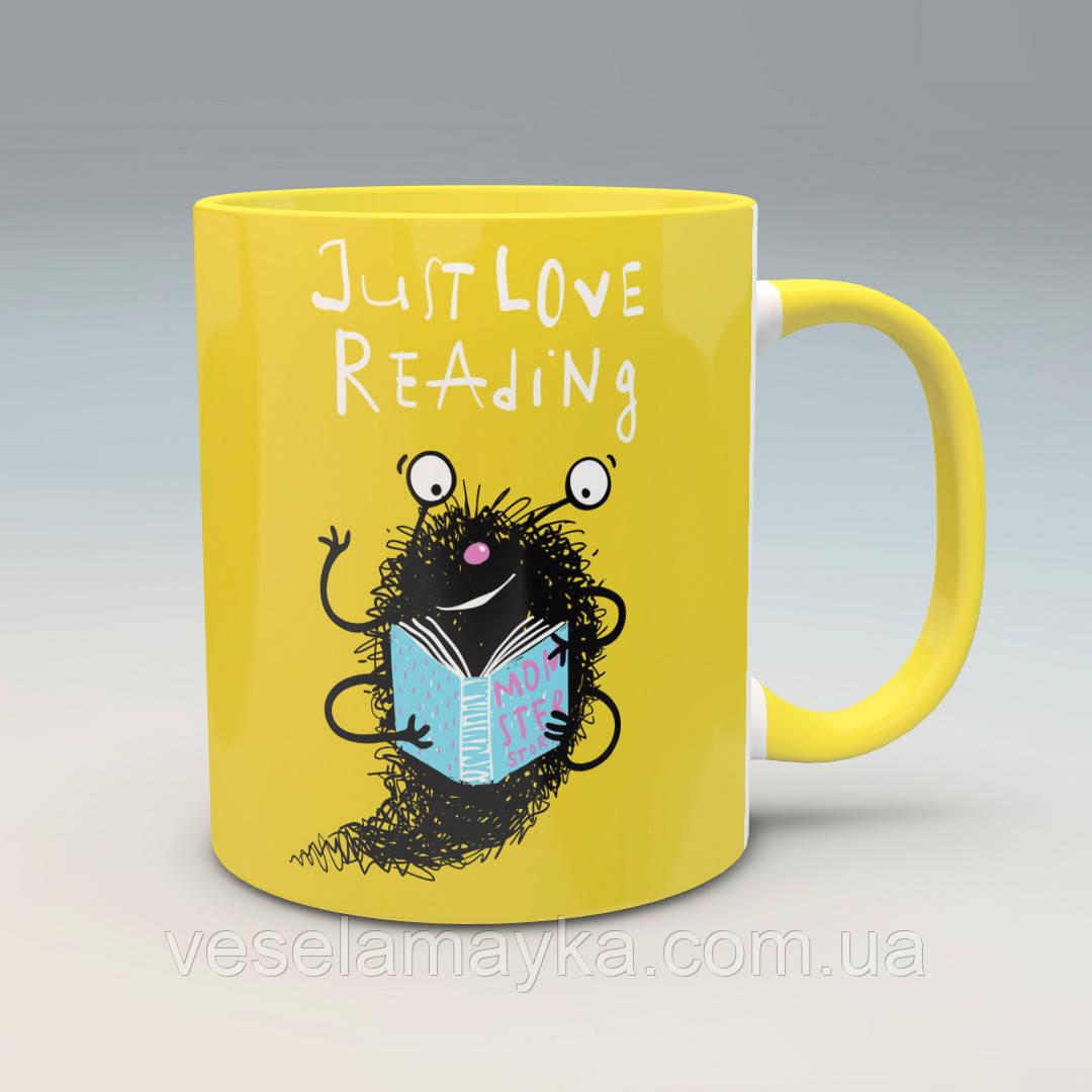 """Чашка """"Просто люблю читать"""""""