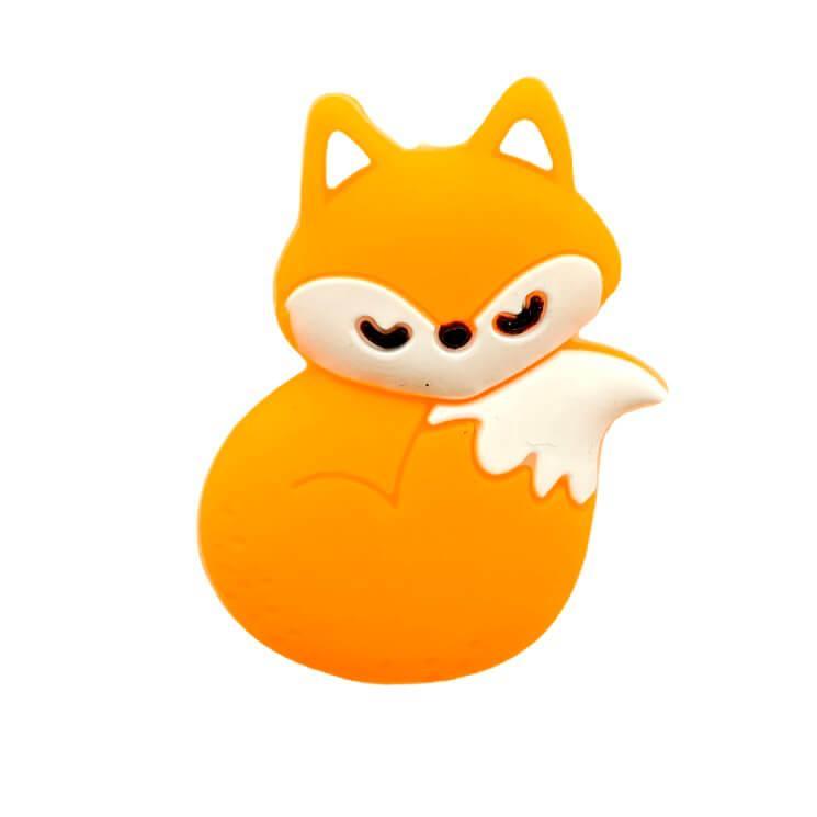 Лисичка МИНИ (оранжевый) силиконовая бусина