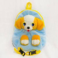 Рюкзак детский Zolushka Собака 32см голубожелтый (2881), фото 1