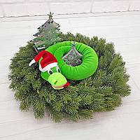 Мягкая игрушка Zolushka Удав ждёт праздник  маленький 62см (492)