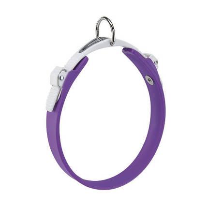 Эластичный ошейник с системой микрорегулировки Ferplast Ergoflex C18/33 Purple для собак, фото 2