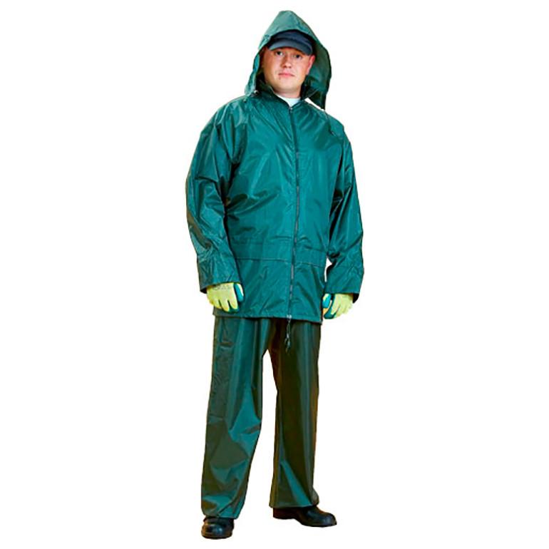 Костюм ПВХ+нейлон (куртка+брюки),  зеленый