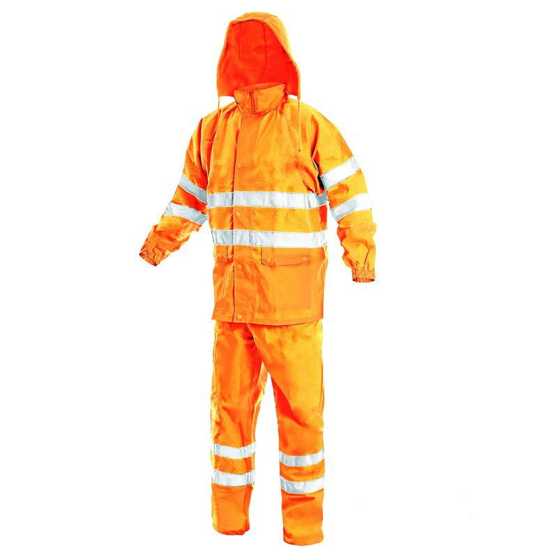 Костюм сигнальный, влагозащитный, CXS YORK (куртка+брюки), оранжевый