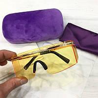 Солнцезащитные очки маска реплика Желтые, фото 1