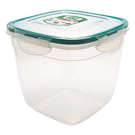 Контейнер Fresh Box квадратный глубокий 2 л прозрачный, фото 2