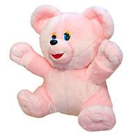 Мягкая игрушка Zolushka Медведь Умка мутон средний 53см розовый (1072)