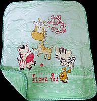 Детский плед-одеяло плюшевое для ребенка 100х110  TM Koloco
