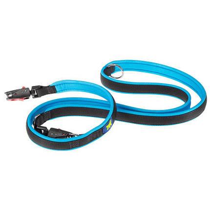 Повідець Ferplast Ergofluo Matic GA15/200 блакитний для собак з автоматичним карабіном, 15 мм, 200 см, фото 2
