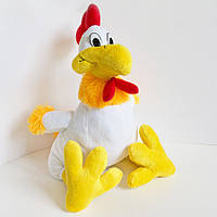 М'яка іграшка Zolushka Півник Петя маленький 32см білий (607-1), фото 1