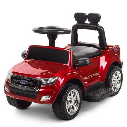 Электромобиль красный для детей Bambi M 3575ELS-4 с родительской ручкой, фото 2