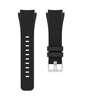 Ремешок для часов силиконовый черный. 22мм, фото 1