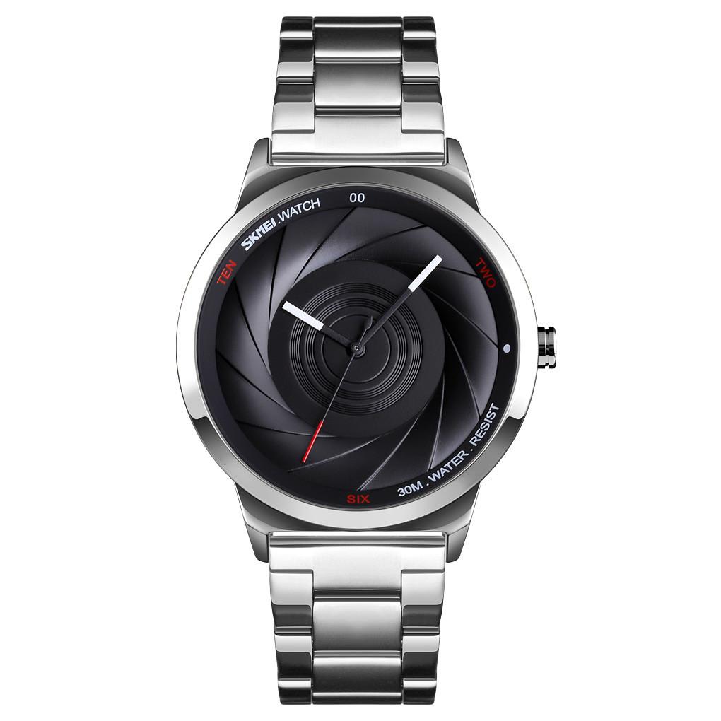 Skmei 9210 серебристые с черным мужские оригинальные часы