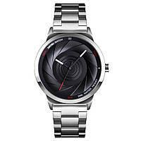 Skmei 9210 серебристые с черным мужские оригинальные часы, фото 1