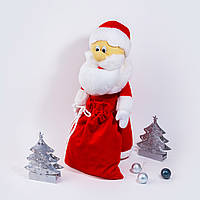 Мягкая игрушка Zolushka Дед Мороз 43см красный (4571), фото 1
