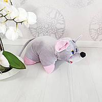 Мягкая игрушка Zolushka Подушка трансформер мышка 37см (247), фото 1