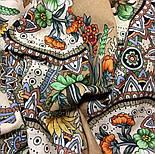 Цветущее лето 1839-2, павлопосадский платок хлопковый (батистовый) с швом зиг-заг, фото 10