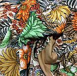 Цветущее лето 1839-2, павлопосадский платок хлопковый (батистовый) с швом зиг-заг, фото 2