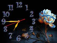 Интерьерные часы настенные Ночная роза 30х40 см