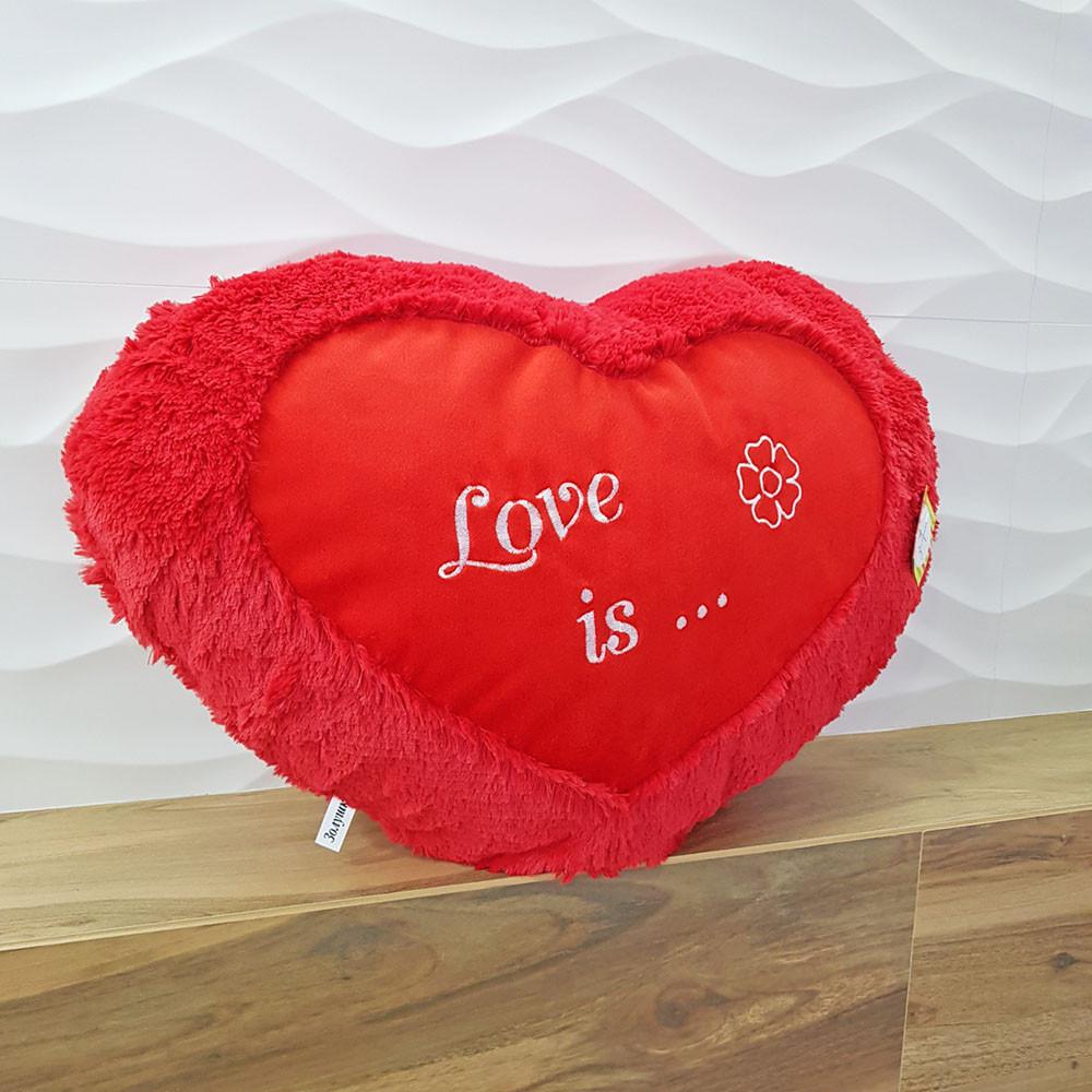Мягкая игрушка Zolushka подушка Сердце Валентинка 44см (546)