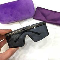 Солнцезащитные очки маска Черные, фото 1