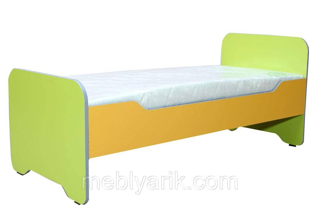 Ліжко дитяче з заокругленнями (без матраца)