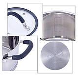 Набір каструль 6 предметів (2л, 2.7 л, 3.7 л); з нержавіючої сталі, фото 2