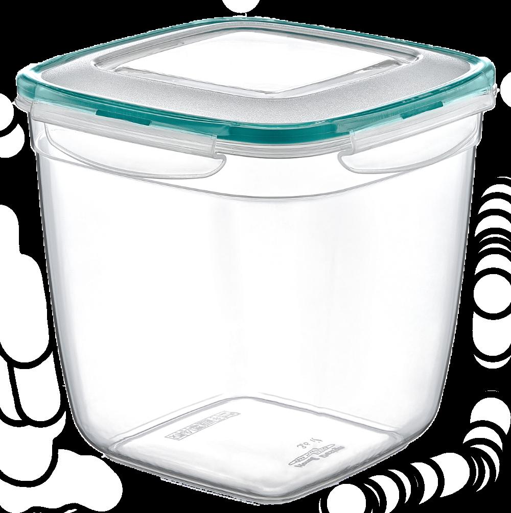 Контейнер Fresh Box квадратный глубокий 3,6 л прозрачный