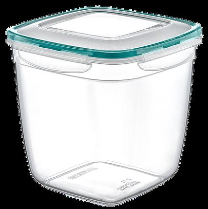 Контейнер Fresh Box квадратный глубокий 3,6 л прозрачный, фото 2