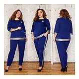 Костюм жіночий брючний, блуза з брюками, прекрасний повсякденний варіант, 4 кольори, р. 50,52,54,56 код 089Й, фото 3