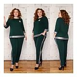 Костюм жіночий брючний, блуза з брюками, прекрасний повсякденний варіант, 4 кольори, р. 50,52,54,56 код 089Й, фото 4