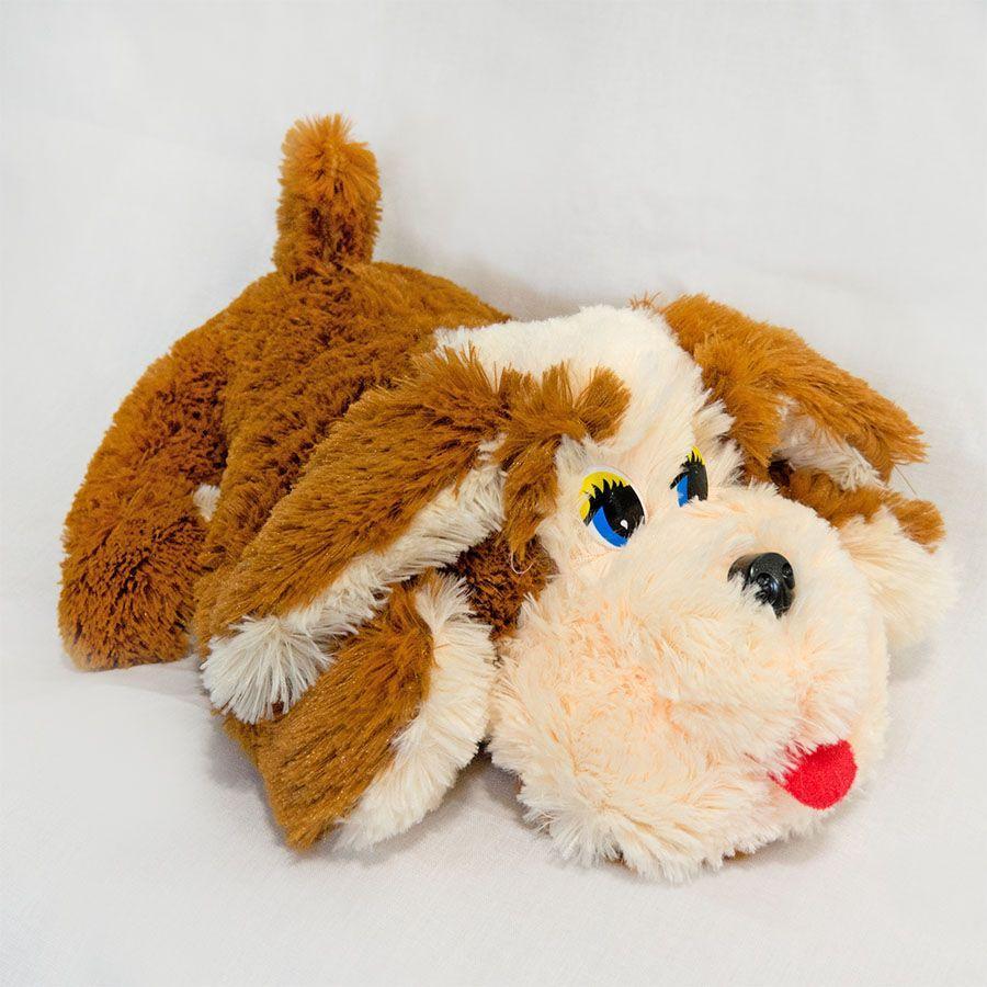 Мягкая игрушка Zolushka Собака Пуфик травка средняя 44см (198)