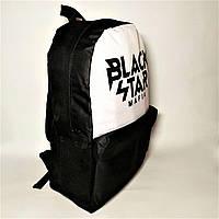 Рюкзак городской  Black Star Mafia Черный с Белым / Стильный рюкзак молодежный унисекс
