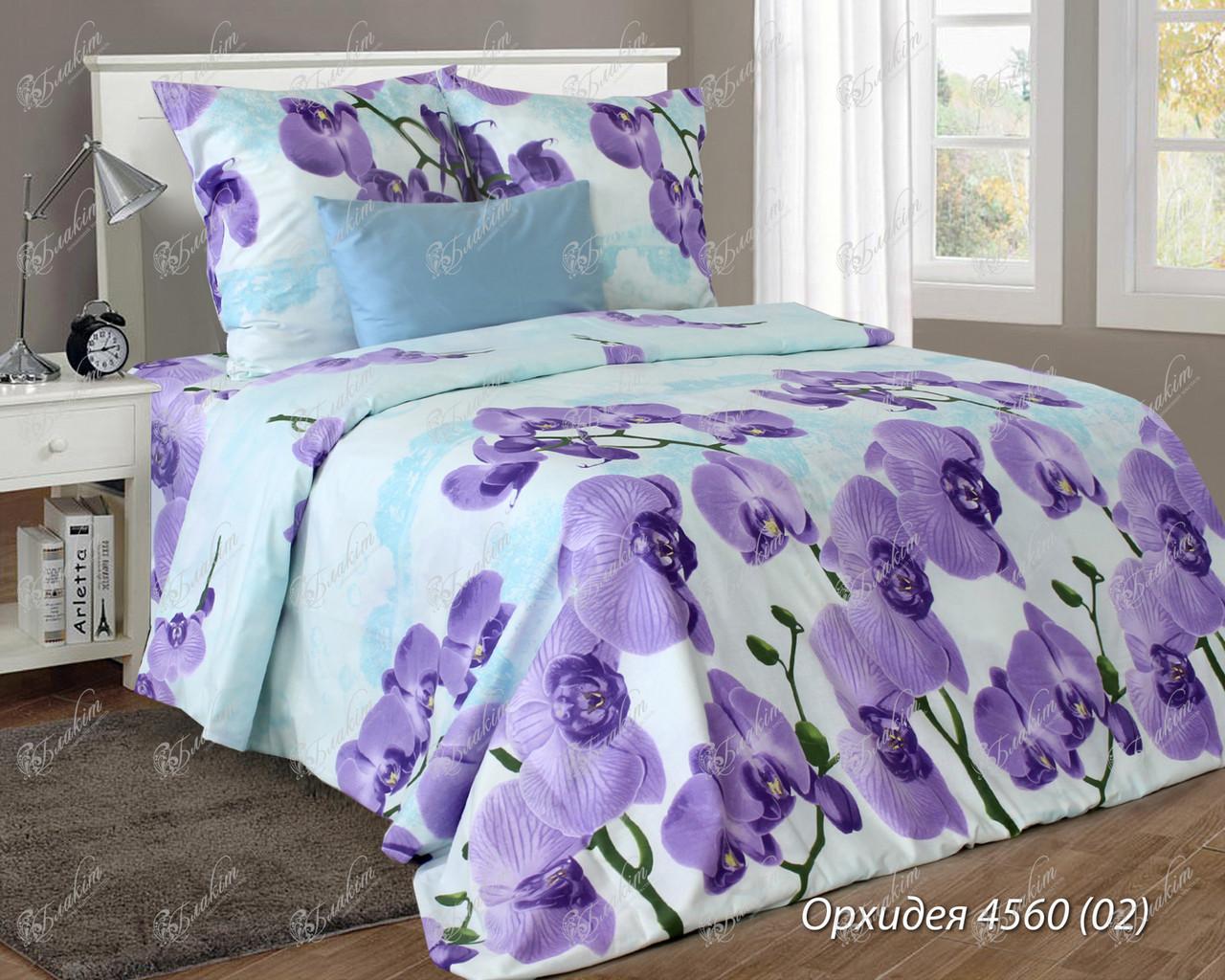 Комплект постельного белья семейный ОРХИДЕЯ фиолет (нав. 70*70 - 2шт.)