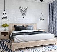 Кровать Валетта полуторная из массива ольхи