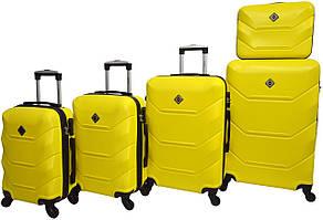 Набір валіз Bonro 5 штук Bonro 2019 жовтий (10500100)