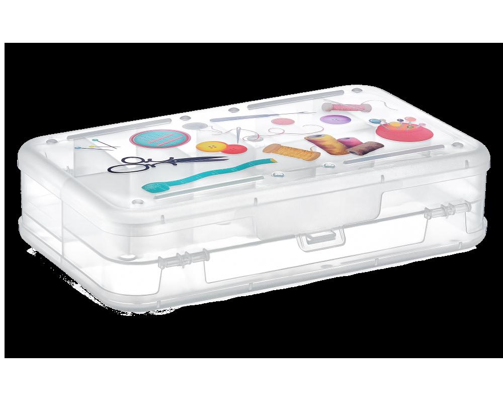 Контейнер универсальный для швейной фурнитуры прозрачный