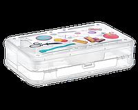 Коробка универсальная для швейной фурнитуры прозрачная