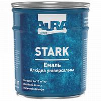 Эмаль алкидная белая глянцевая №12 0,9кг Aura Stark