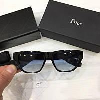 Женские солнцезащитные очки Wayfarer Dior реплика  Черные с синей линзой, фото 1